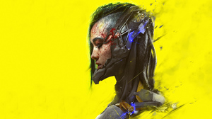 Cyberpunk Cyberpunk 2077 Yellow Background Cyborg Closed Eyes Women 3840x2160 Wallpaper