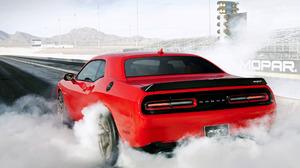 Burnout Dodge Challenger SRT Hellcat 1920x1200 Wallpaper