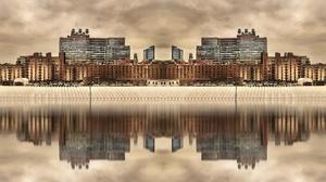 Cityscape New York City USA Water Reflection 2560x1440 Wallpaper