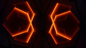 Abstract 3D Abstract Neon Lights Digital Geometry Shapes Minimalism Dark Glowing 3648x2432 Wallpaper
