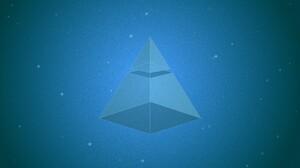 Pyramid Blue Geometric Figures Digital Art 1920x1080 Wallpaper