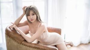 Han Ga Eun Asian Model Long Hair Undressing Hands On Head 2048x1366 Wallpaper