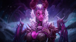 Demon Girl Horns White Hair Woman 1920x1280 Wallpaper