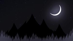 Night Sky Trees Stars Valley 3840x2160 Wallpaper