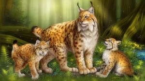 Lynx Big Cats Forest 3149x1905 Wallpaper