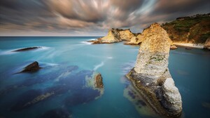 Cloud Earth Horizon Ocean Rock Sea Sky 1920x1200 Wallpaper