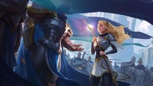 Garen League Of Legends Lux League Of Legends 2000x1080 Wallpaper