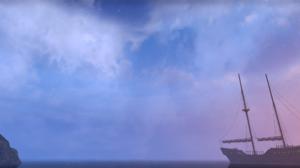 The Elder Scrolls Online Sky Clouds Pink Blue Stars PC Gaming 2752x1152 Wallpaper