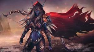 Bow Sylvanas Windrunner Woman Warrior World Of Warcraft 2560x1440 Wallpaper