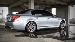 Car Vehicle Silver Cars BMW E60 2560x1707 Wallpaper
