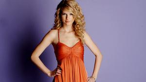 American Blonde Orange Dress Singer Taylor Swift 1920x1276 Wallpaper