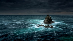 Horizon Nature Ocean Rock 2560x1709 Wallpaper