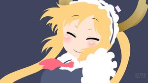 Tohru Miss Kobayashi 039 S Dragon Maid Vector Minimalist 3840x2160 Wallpaper