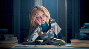 Luxanna Lux League Of Legends Riot Games Blonde Blue Eyes Wild Rift Looking At The Side 3840x2160 Wallpaper
