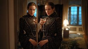 Women Brunette Looking At Viewer Dress Glass Reflection Mirror Natalia Emelianenko 2024x1139 Wallpaper