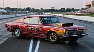Drag Racing Hot Rod Mopar Muscle Car Plymouth Barracuda Racing Red Car 5472x3648 Wallpaper