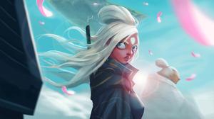 Woman Girl White Hair 3840x2118 Wallpaper