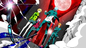 Anime Chie Satonaka Persona 4 Yosuke Hanamura Yu Narukami Yukiko Amagi 3840x2160 wallpaper