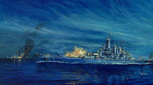 Battle Of Savo Island USS Washington Warship Vehicle Ship Military Artwork 2000x1478 Wallpaper