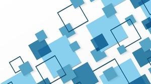 Blue Geometry Square 7455x4608 Wallpaper
