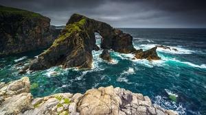 Outdoors Nature Coast Rock Sea 3840x2160 Wallpaper