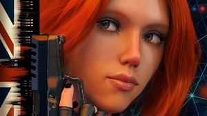 Black Widow Poster Avengers Endgame Redhead Gurin Digital Gun Glock Weapon ARTWORK Looking Away Comi 1200x1500 Wallpaper