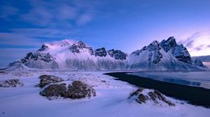 Winter Landscape Photography Mountains Snow Ruslan Stepanov 2500x1190 Wallpaper