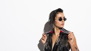 Actress Black Hair Canadian Nina Dobrev Sunglasses 3500x2336 Wallpaper