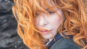 Mylene Farmer French Singer Redhead Hair In Face 5120x3364 wallpaper