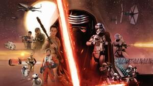 Star Wars Star Wars The Force Awakens Kylo Ren Han Solo BB 8 Chewbacca Captain Phasma R2 D2 C 3PO Lu 2560x1440 Wallpaper
