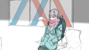 Darling In The FranXX 2D Fan Art Anime Anime Girls Vertical JK School Uniform Long Hair Pink Hair Bl 1732x2460 Wallpaper