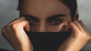 Women Dark Hair Eyes Face 1920x1814 Wallpaper