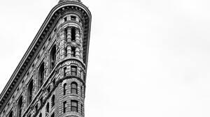 Flatiron Building New York City Facade Monochrome Architecture 5480x3654 wallpaper
