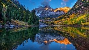Lake Mountain Nature Reflection 3840x2160 Wallpaper