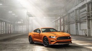 Car Ford Ford Mustang Muscle Car Orange Car Vehicle 6720x4480 Wallpaper