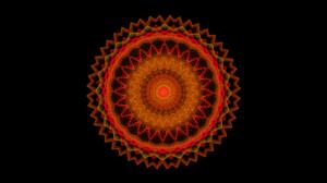 Circle Orange Color Colors Digital Art Pattern 1920x1080 Wallpaper