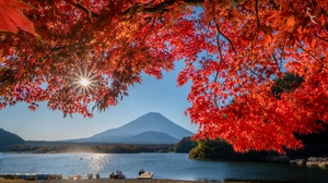 Fall Japan Lake Leaf Mount Fuji 2048x1483 Wallpaper