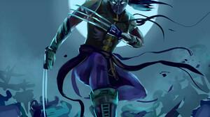 Shadow Fight 2 Lynx Night Moonlight Blue 1920x2650 Wallpaper