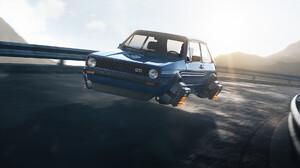 Guilherme Moura Vehicle Car Volkswagen Flying Car Science Fiction Digital Art Artwork CGi Volkswagen 1920x1080 wallpaper