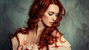 Woman Model Girl Redhead Earrings 2048x1497 Wallpaper