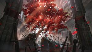 Olga Orlova Trees Sword 2000x1106 Wallpaper