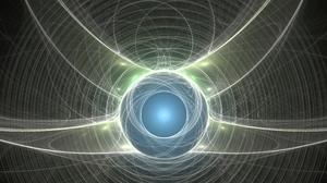 Fractal Fractal Flame Mathematics Energy Field Space Symmetry Ultrawide Wide Image Wide Screen Abstr 5760x2400 Wallpaper