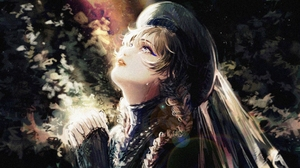 Digital Art Women Blue Eyes Brunette Long Hair Trees Praying Crying Hat Russian Light Effects Lookin 4553x2480 Wallpaper