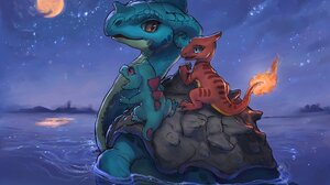 Charmeleon Pokemon Lapras Pokemon Pokemon 2048x1365 Wallpaper