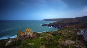 Nature Coast Ireland Ocean Horizon 2048x1152 wallpaper