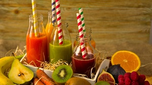 Berry Juice Bottle Drink Fruit Vegetable Still Life 5683x3789 Wallpaper