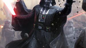 Star Wars Sith Darth Vader Science Fiction Artwork Star Wars Villains ArtStation Darren Tan 971x1500 Wallpaper