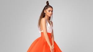 Actress American Brunette Girl Singer Zendaya 3785x2130 Wallpaper