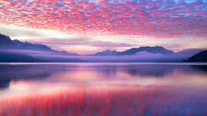 Nature Lake Sunset Clouds 1920x1200 Wallpaper