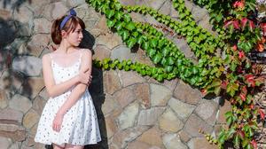 Asian Brunette Girl Model Woman 7360x4912 wallpaper